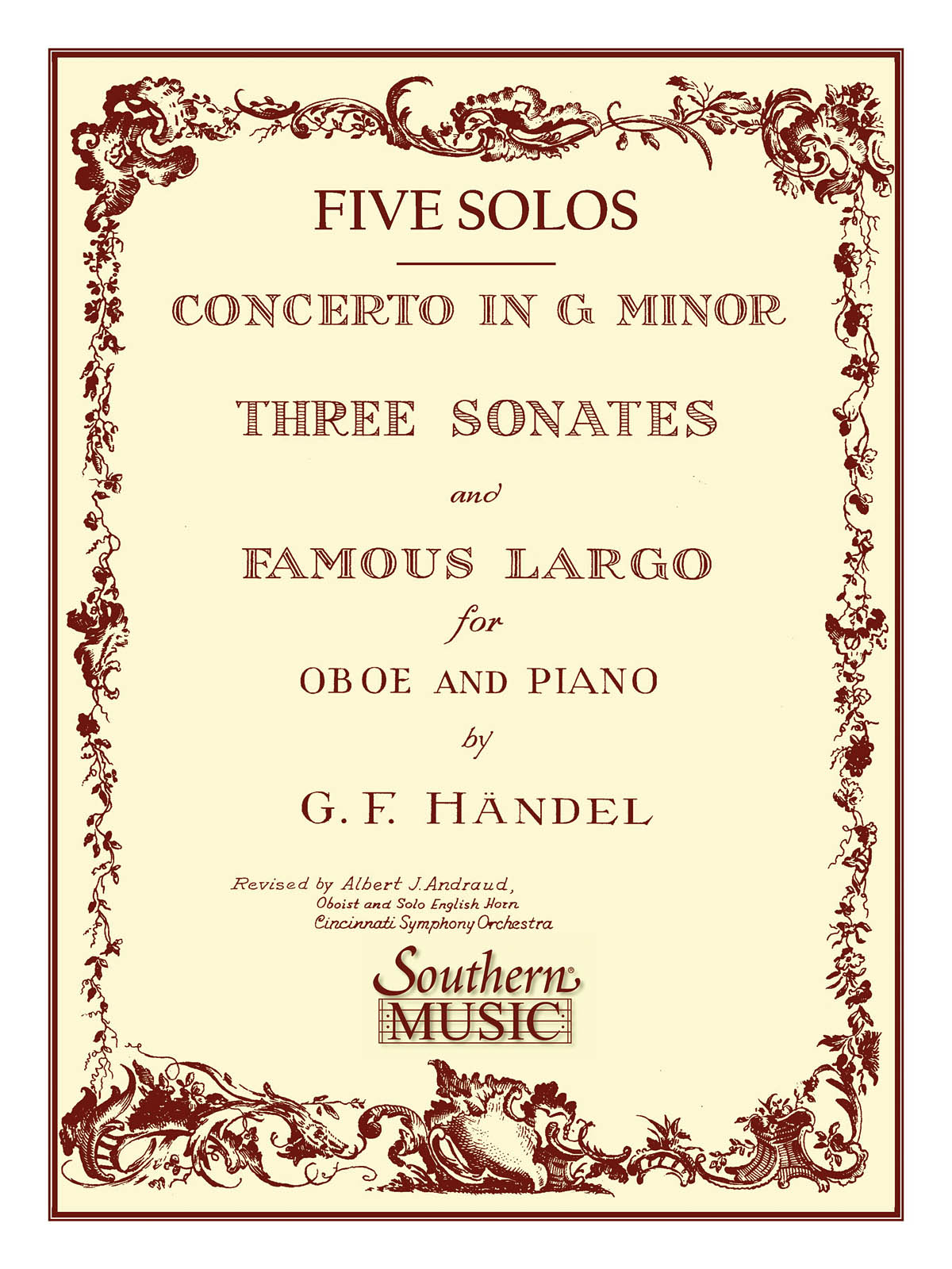 Georg Friedrich Händel: Three Sonates Famous Largo (Concerto G Minor): Oboe