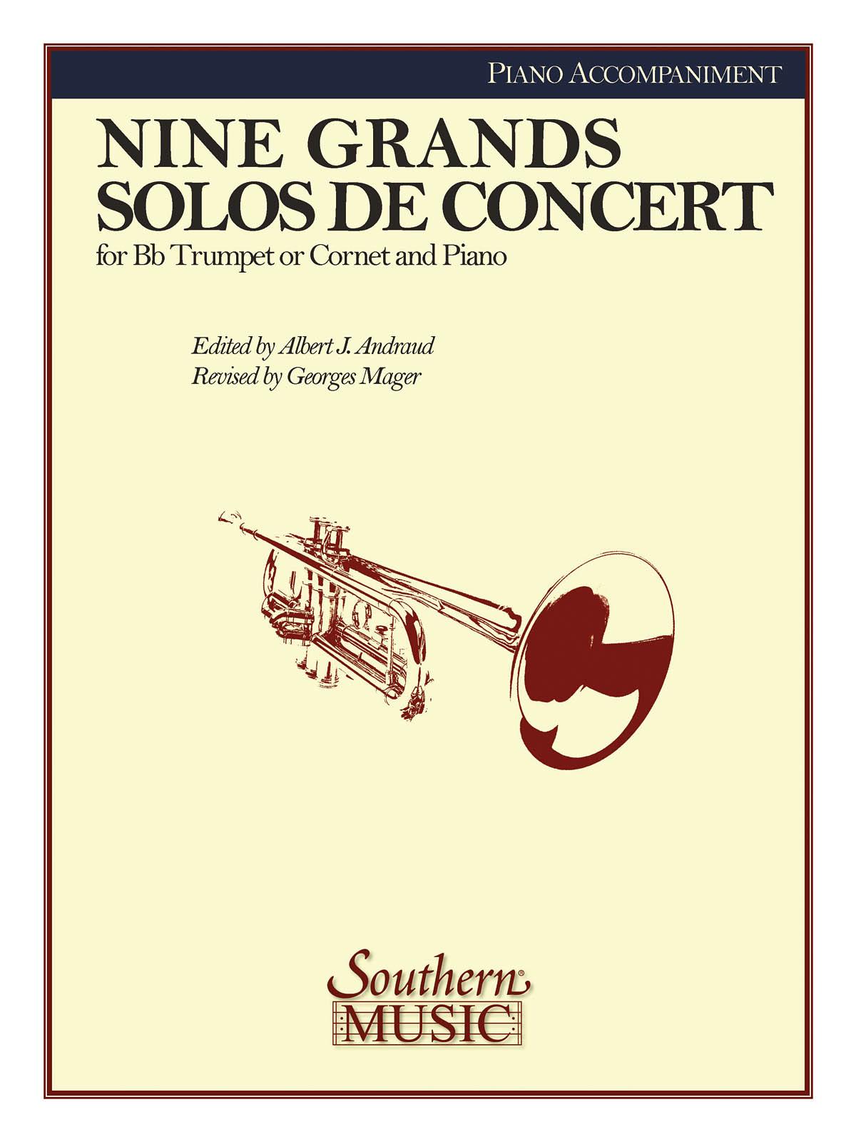 Georges C. Mager: Nine Grand Solos De Concert: Trumpet and Accomp.: Instrumental