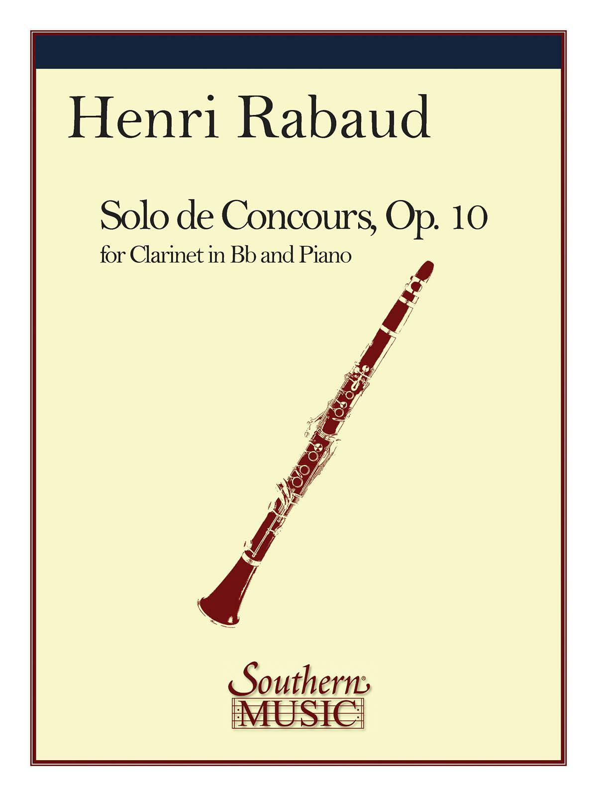 Henri Rabaud: Solo De Concours: Clarinet Solo: Instrumental Album