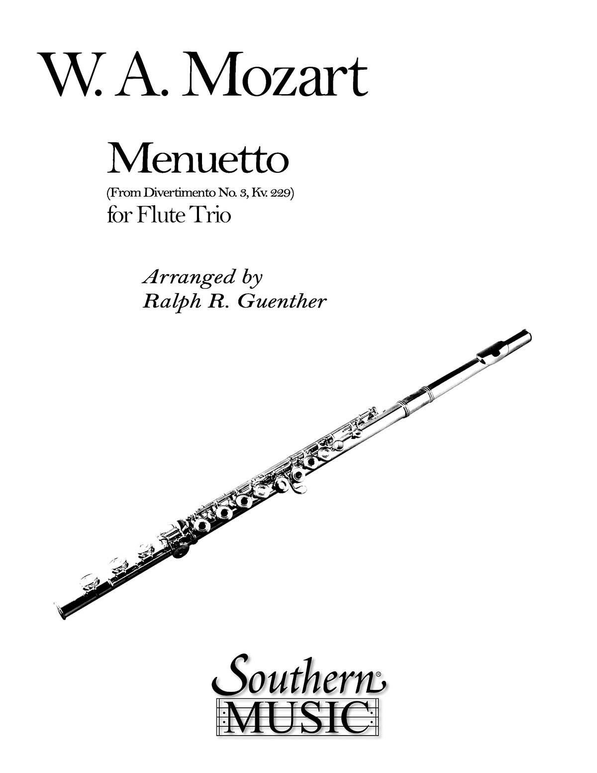 Wolfgang Amadeus Mozart: Menuetto (From Divertimento No 3 K229): Flute Ensemble: