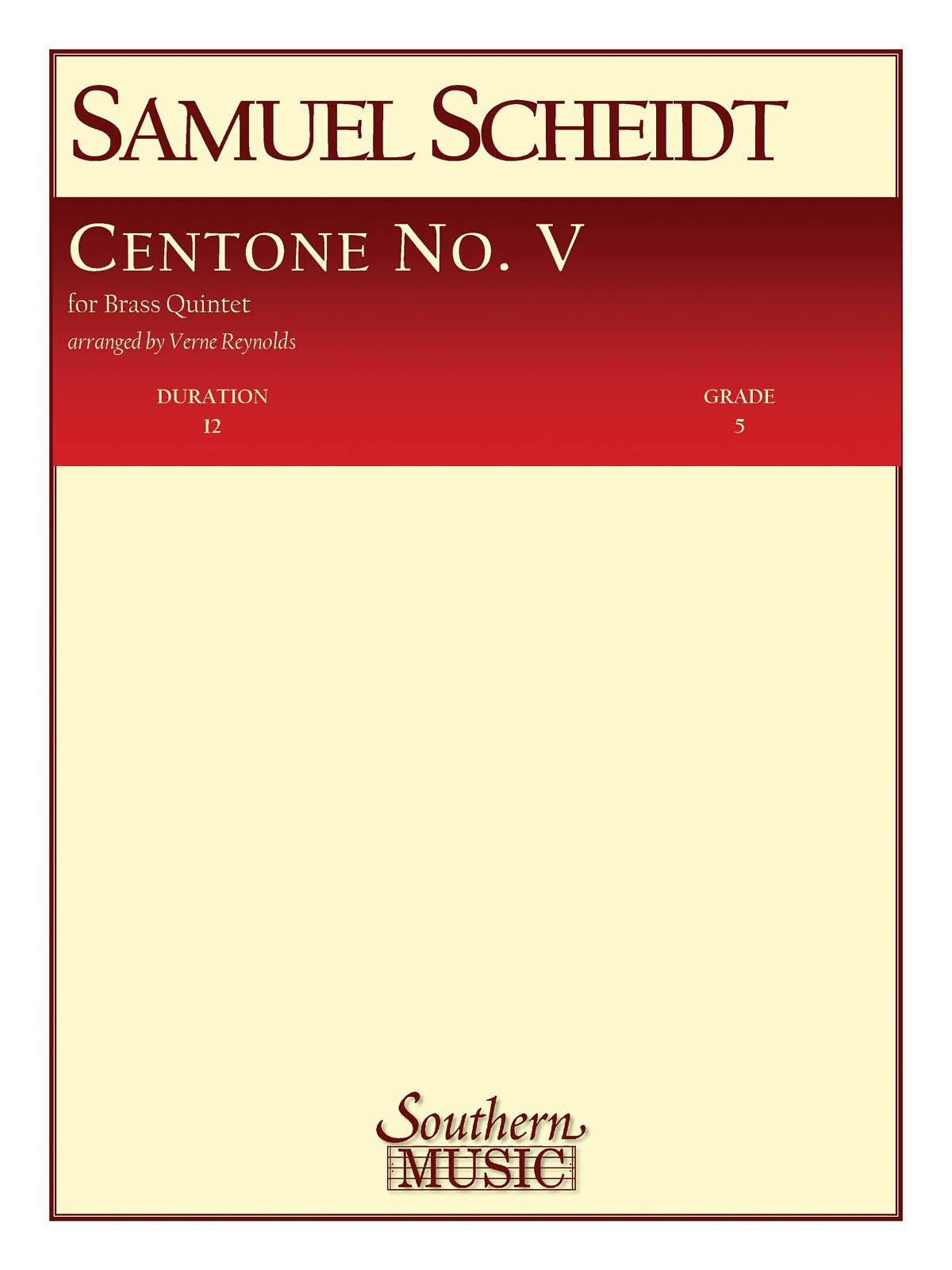 Samuel Scheidt: Centone No. 5: Brass Ensemble: Score