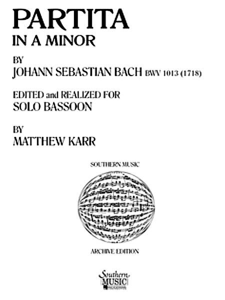 Johann Sebastian Bach: Partita In A Minor: Bassoon Solo: Instrumental Album