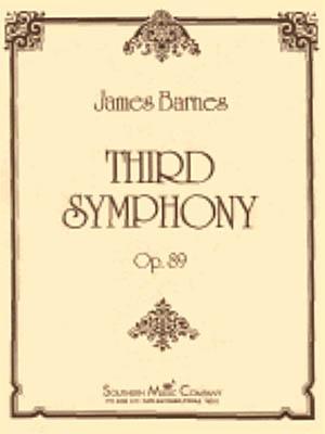 James Barnes: Third Symphony: Concert Band: Score & Parts