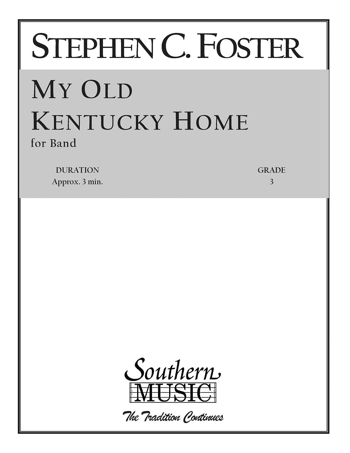 Stephen Foster: My Old Kentucky Home: Concert Band: Score & Parts