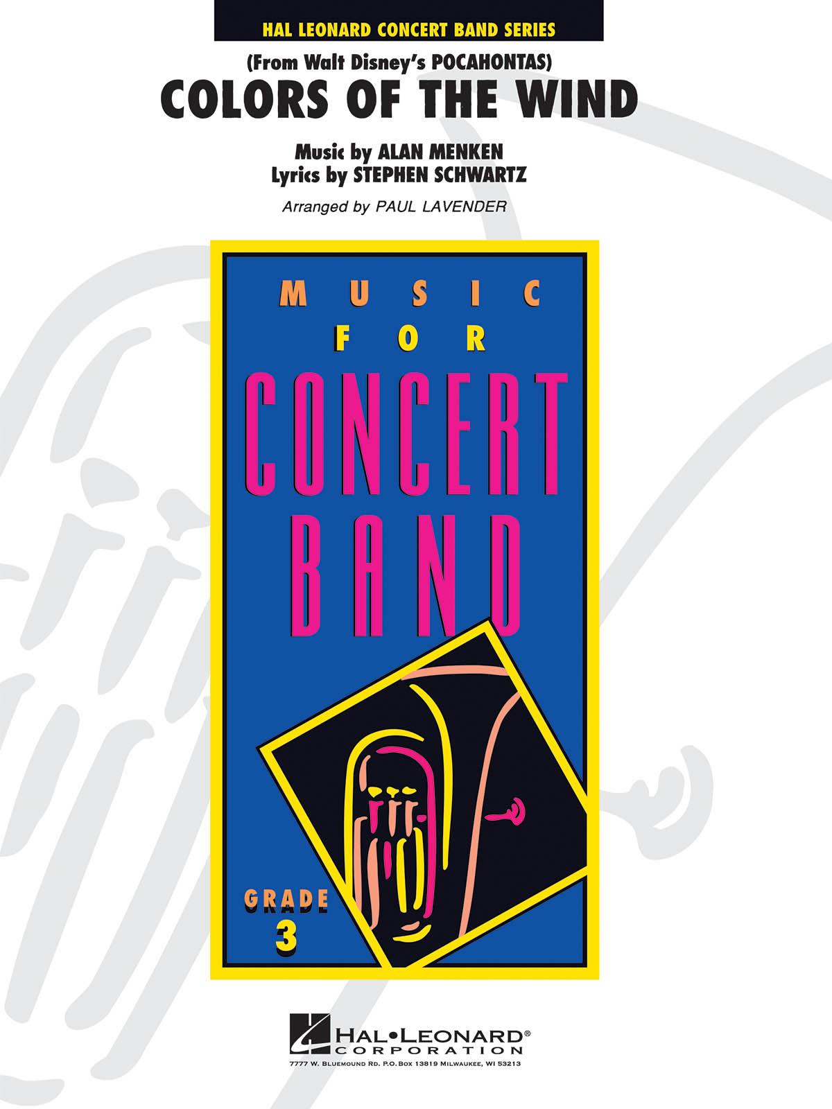 Alan Menken Stephen Schwartz: Colors of the Wind: Concert Band: Score & Parts