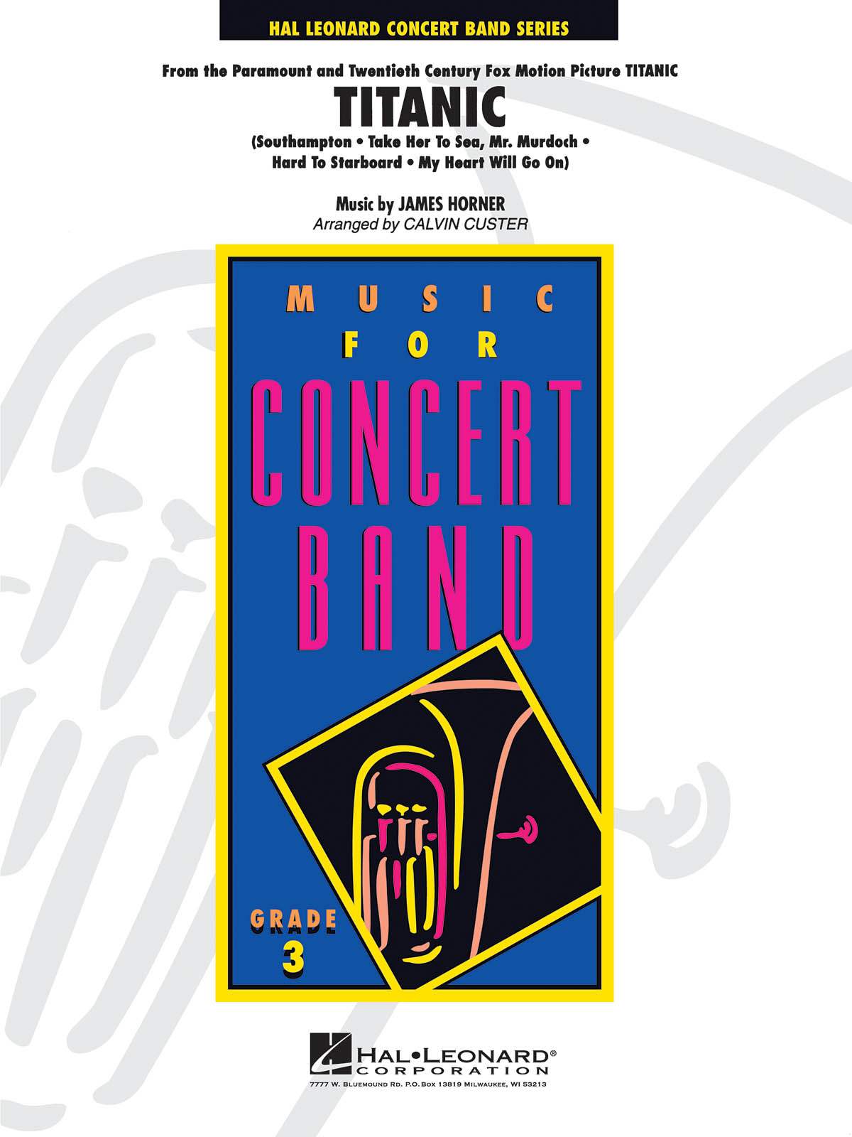 James Horner: Titanic (Medley): Concert Band: Score & Parts