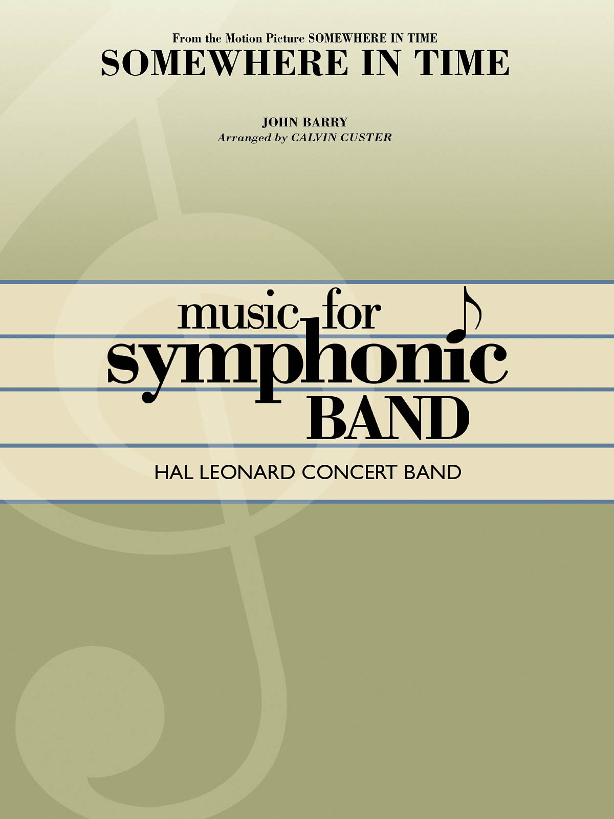 John Barry: Somewhere in Time: Concert Band: Score