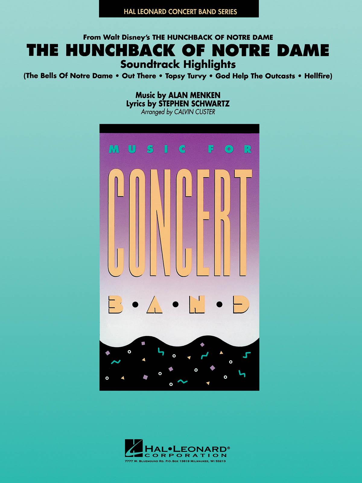 Alan Menken Stephen Schwartz: Hunchback of Notre Dame: Concert Band: Score &