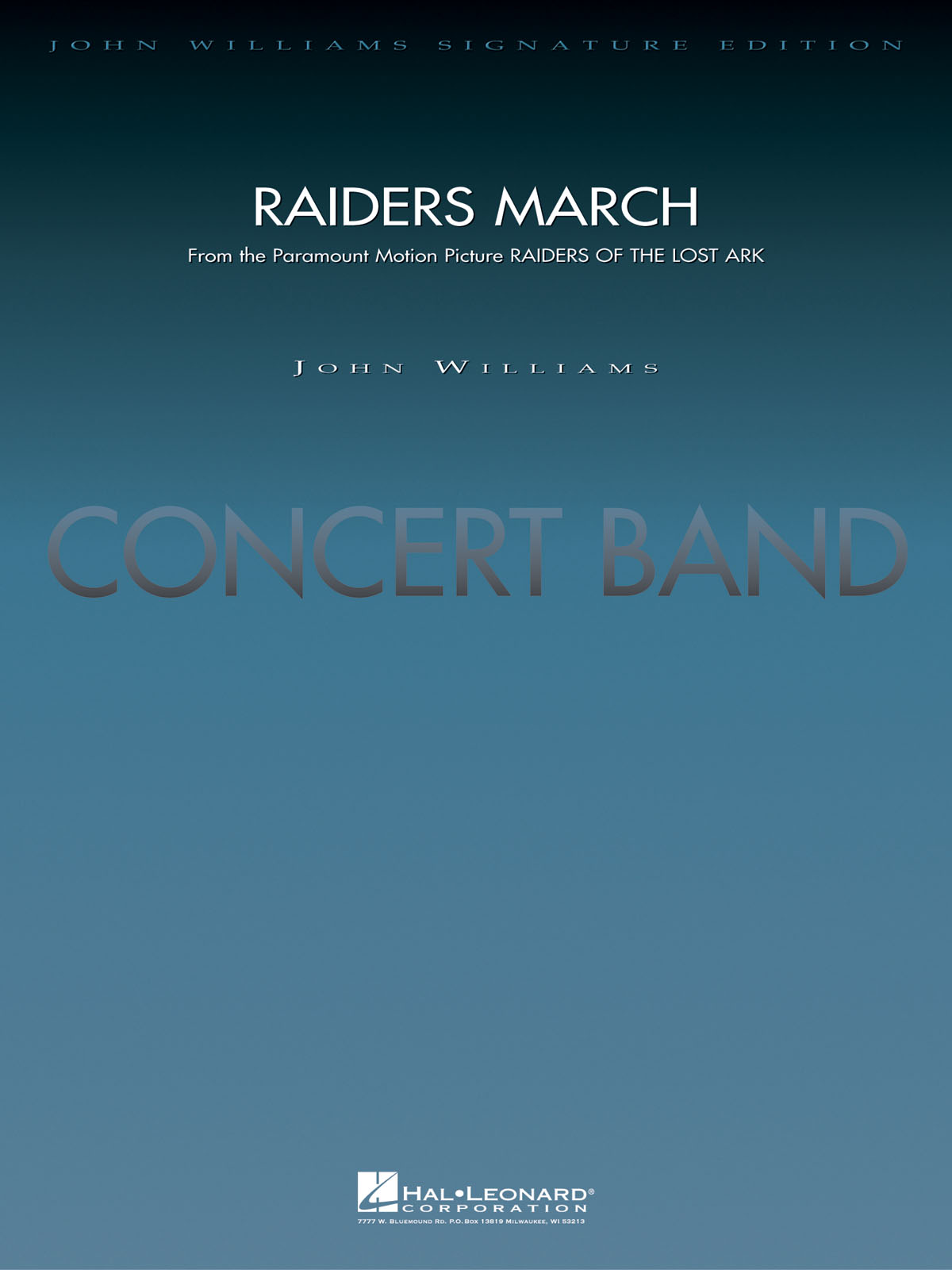 John Williams: Raiders March: Concert Band: Score & Parts