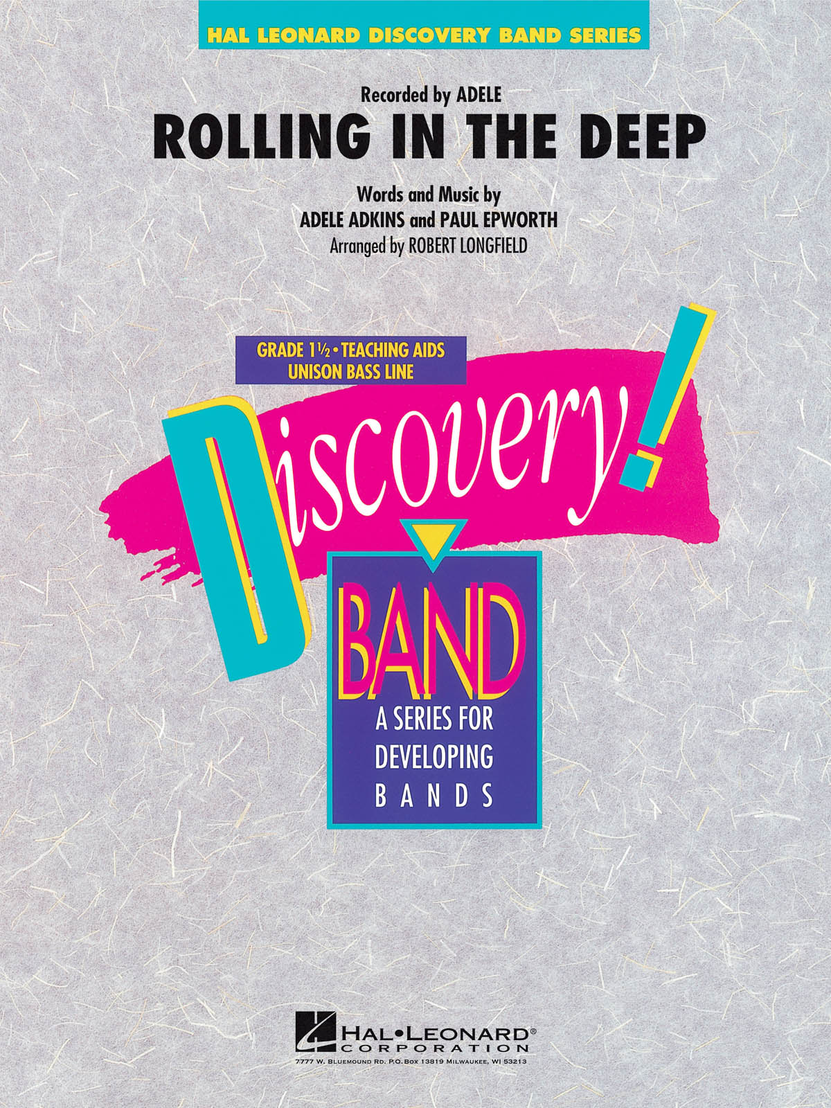 Adele Adkins Paul Epworth: Rolling in the Deep: Concert Band: Score & Parts