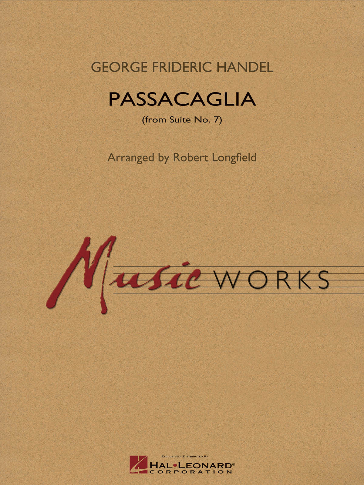 Georg Friedrich Händel: Passacaglia (from Suite No. 7): Concert Band: Score &