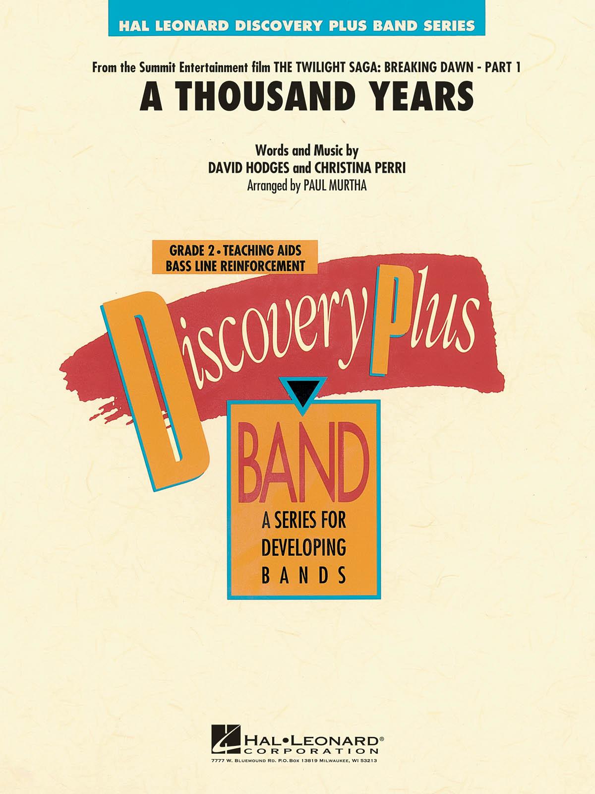 Christina Perri David Hodges: A Thousand Years: Concert Band: Score & Parts
