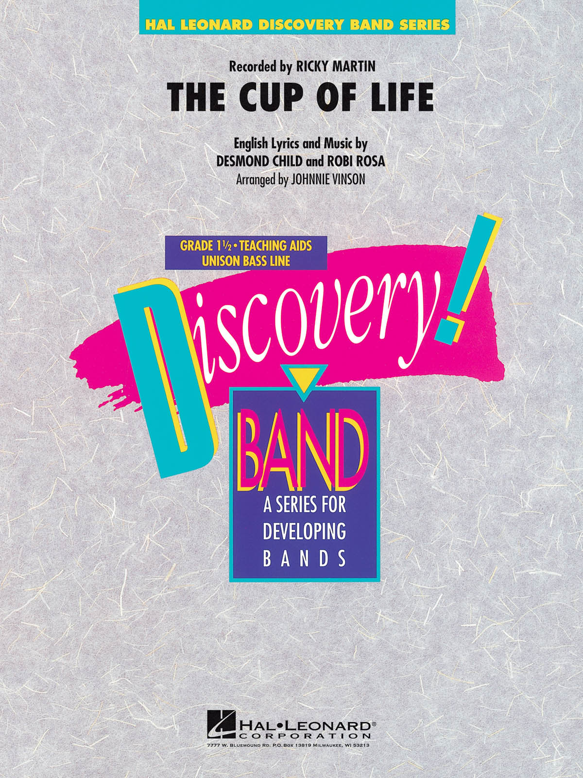 Desmond Child Robi Rosa: The Cup of Life: Concert Band: Score & Parts