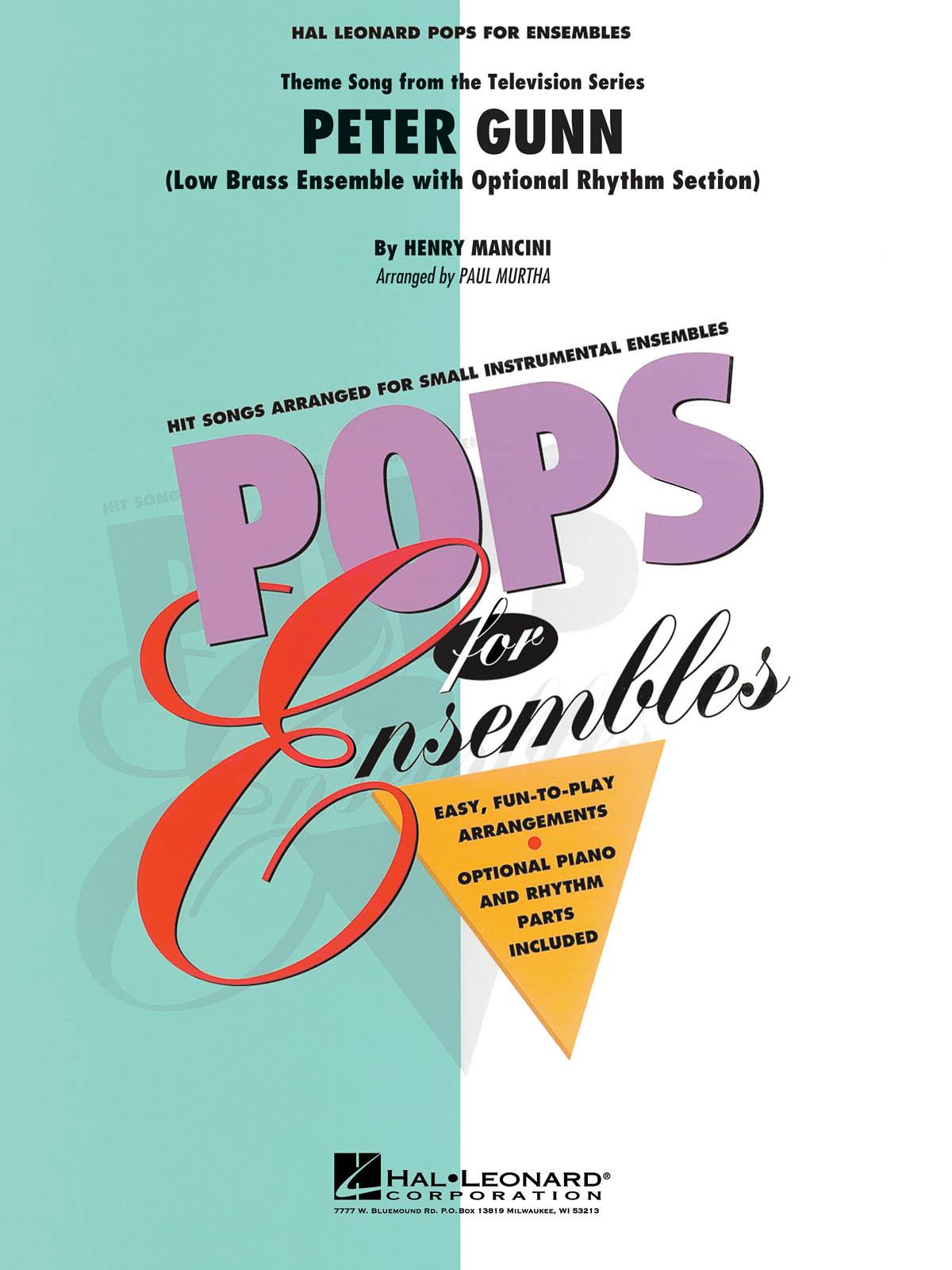 Henry Mancini: Peter Gunn: Brass Ensemble: Score & Parts