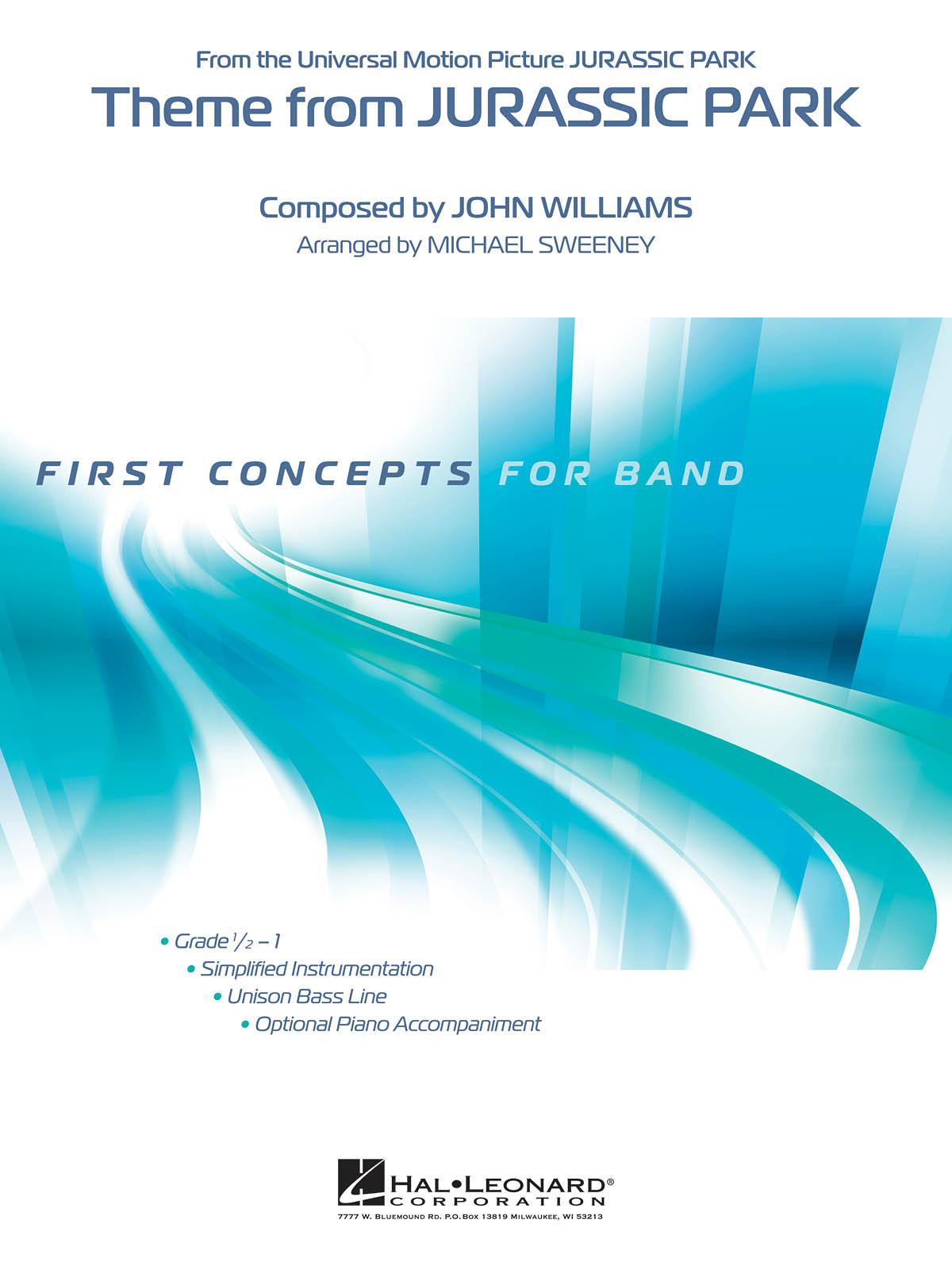 John Williams: Theme from Jurassic Park: Concert Band: Score