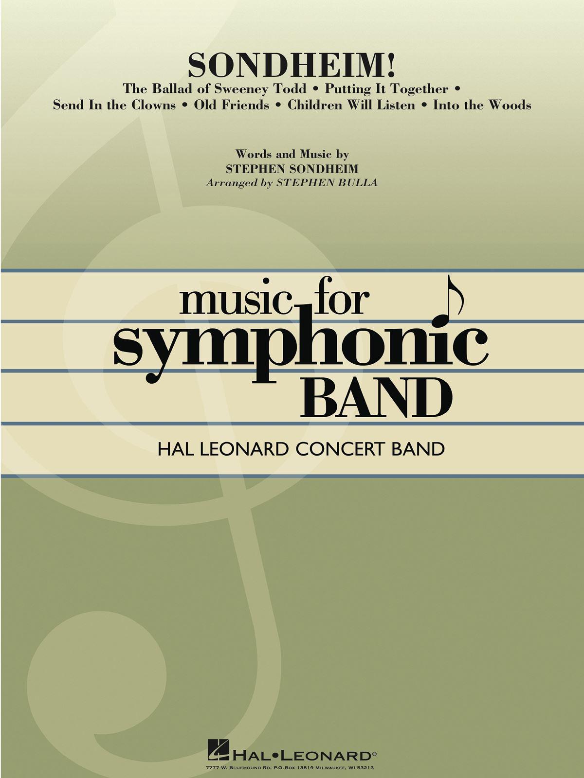 Stephen Sondheim: Sondheim!: Concert Band: Score & Parts