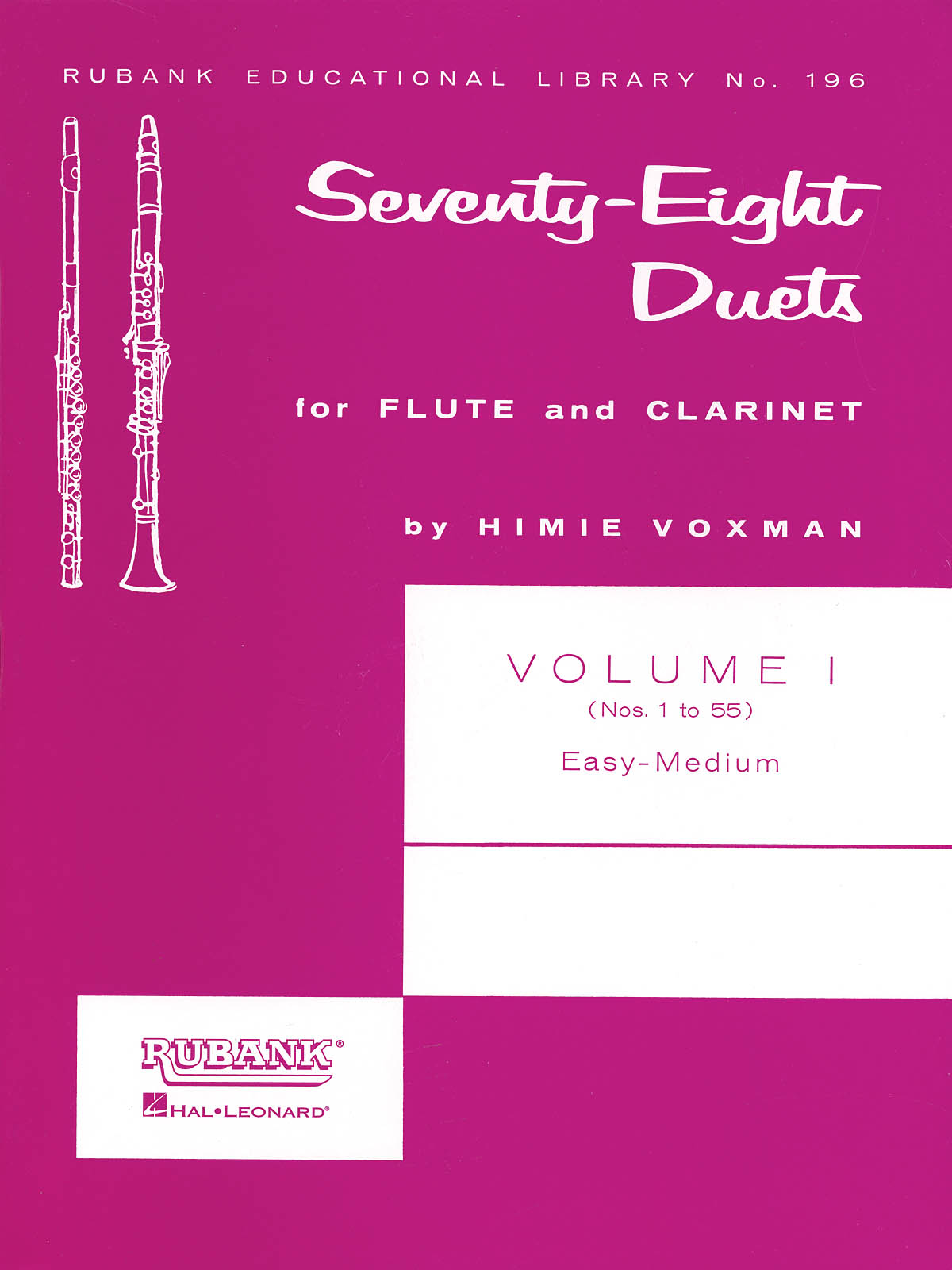 78 Duets for Flute and Clarinet Vol. I: Flute Solo: Score