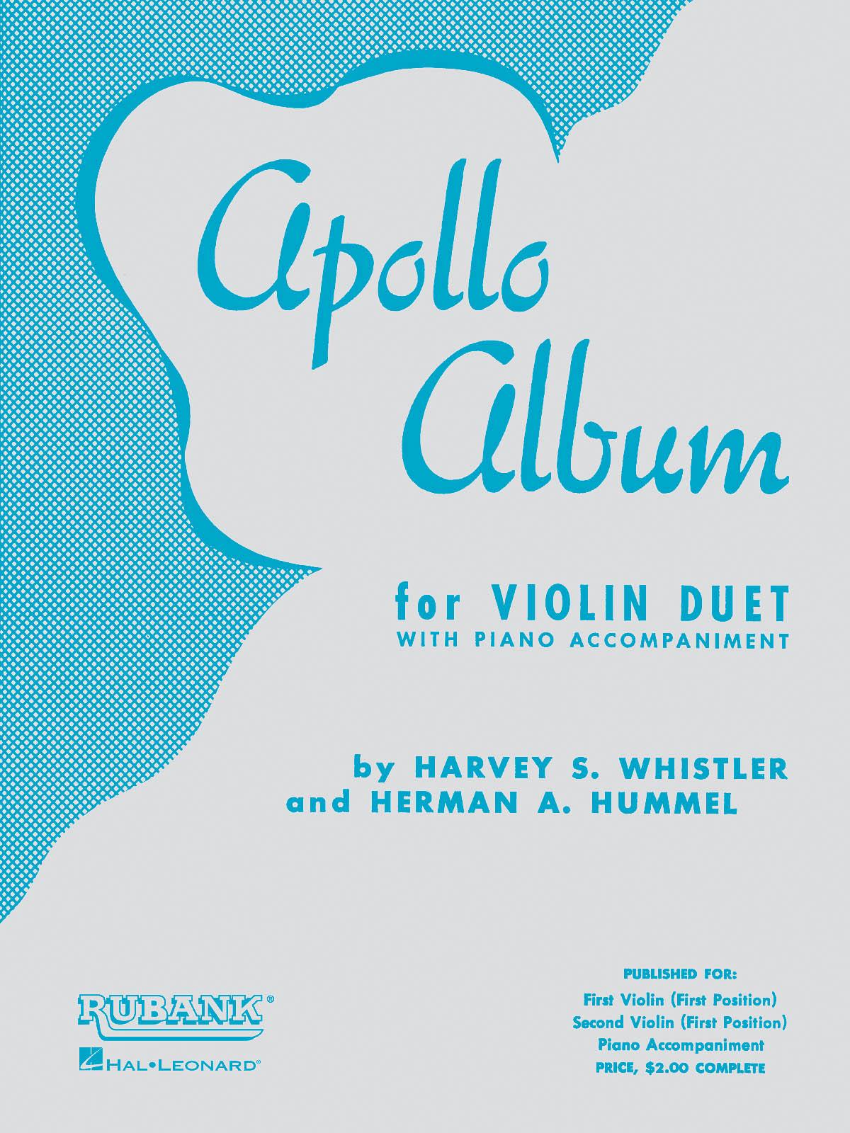 Apollo Album: Violin and Accomp.: Instrumental Album