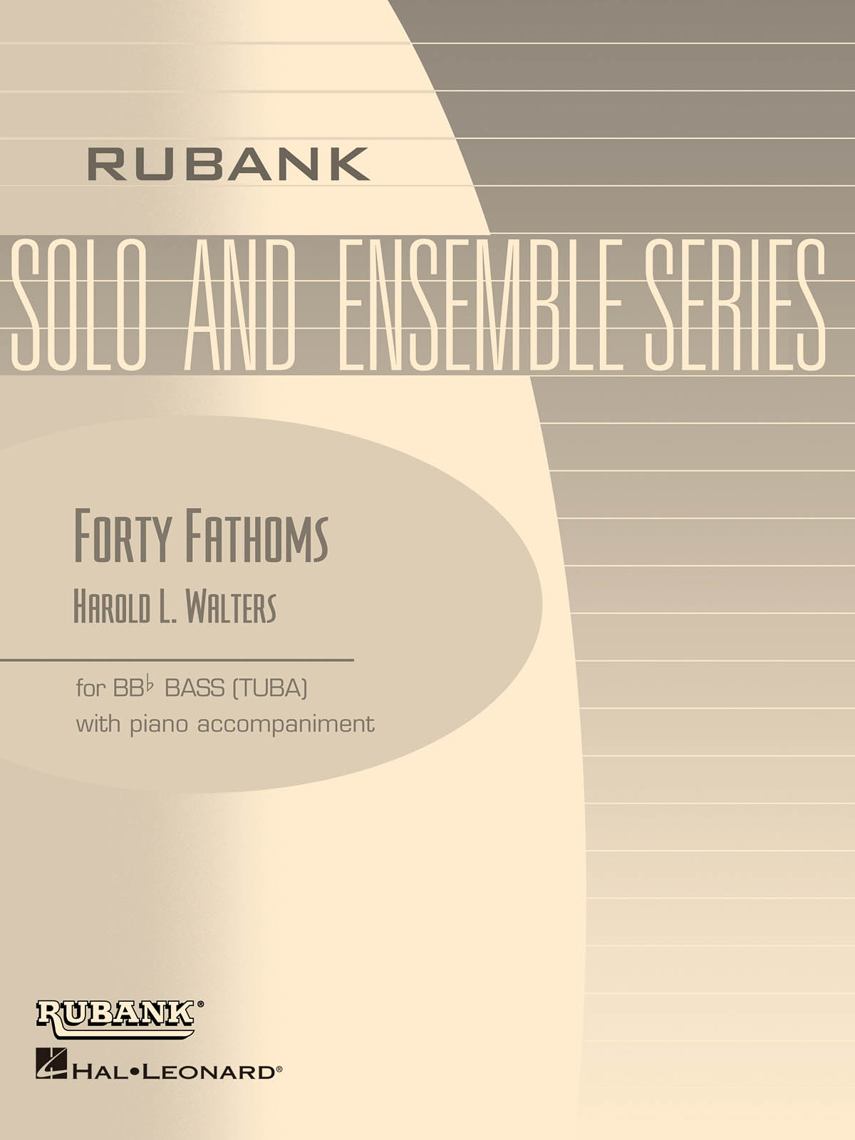 Harold L. Walters: Forty Fathoms: Tuba Solo: Score and Parts