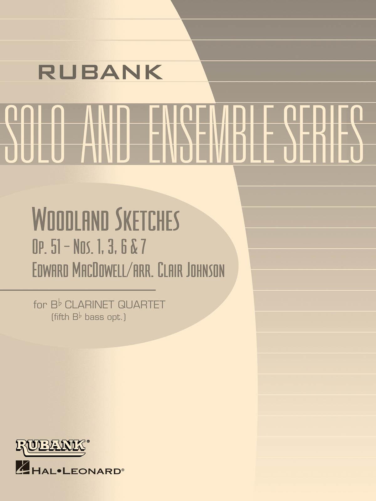 Edward MacDowell: Woodland Sketches  Op. 51: Clarinet Ensemble: Score & Parts