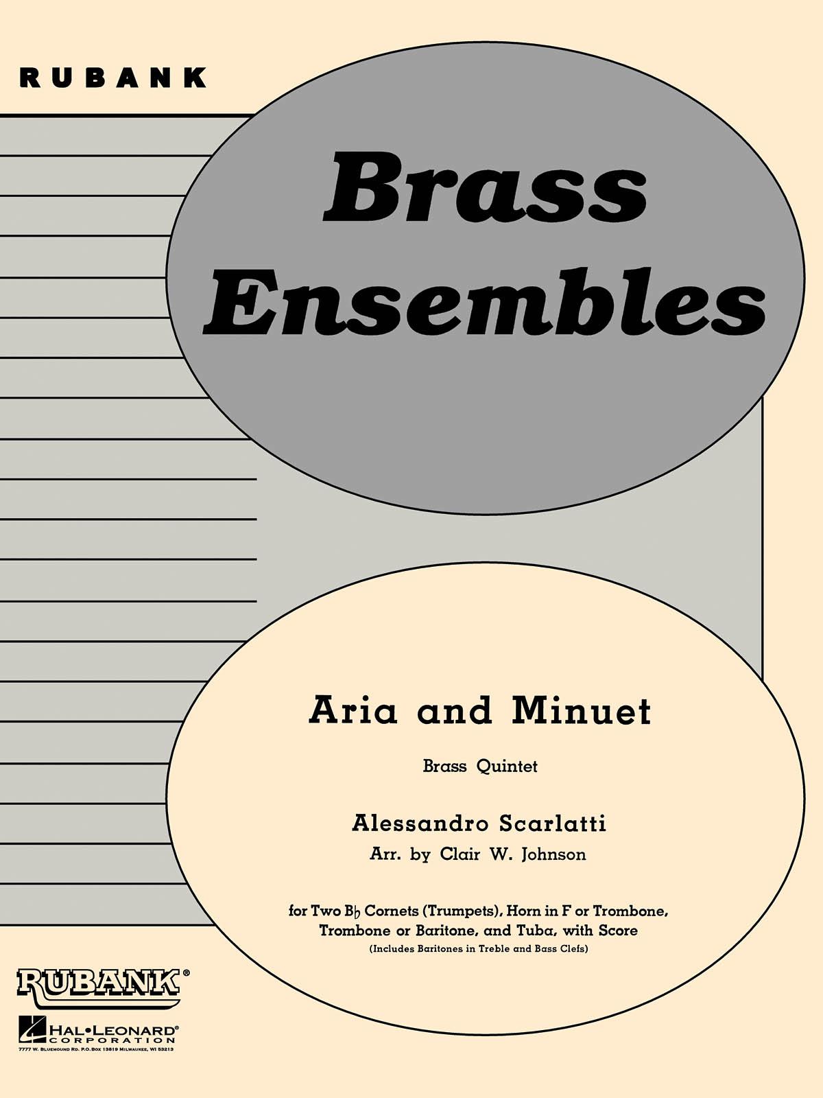 Alessandro Scarlatti: Aria and Minuet: Brass Ensemble: Score & Parts