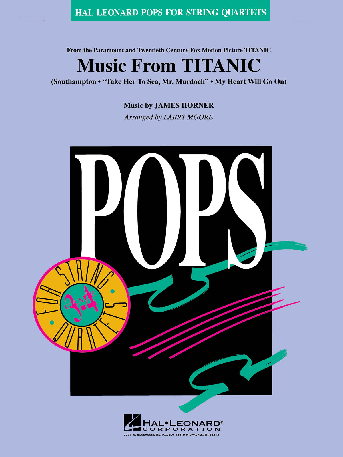 James Horner: Music from Titanic: String Quartet: Score & Parts