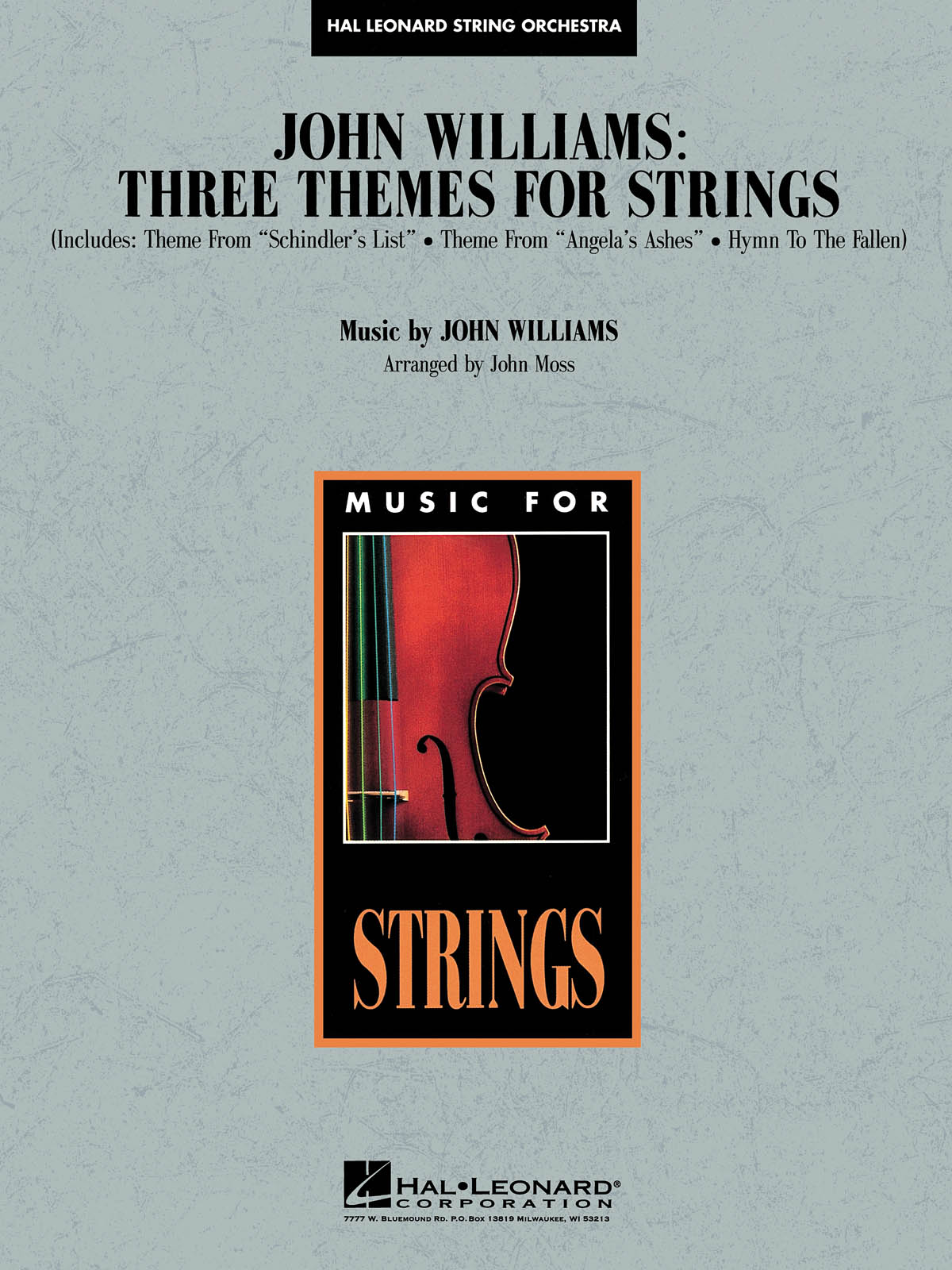 John Williams: John Williams: Three Themes for Strings: String Orchestra: Score