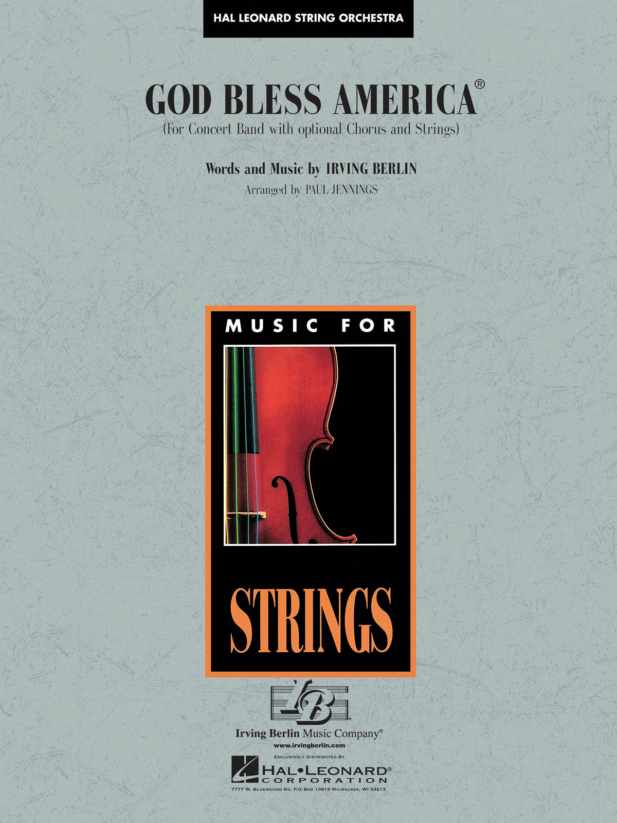 Irving Berlin: God Bless America®: String Orchestra: Score & Parts