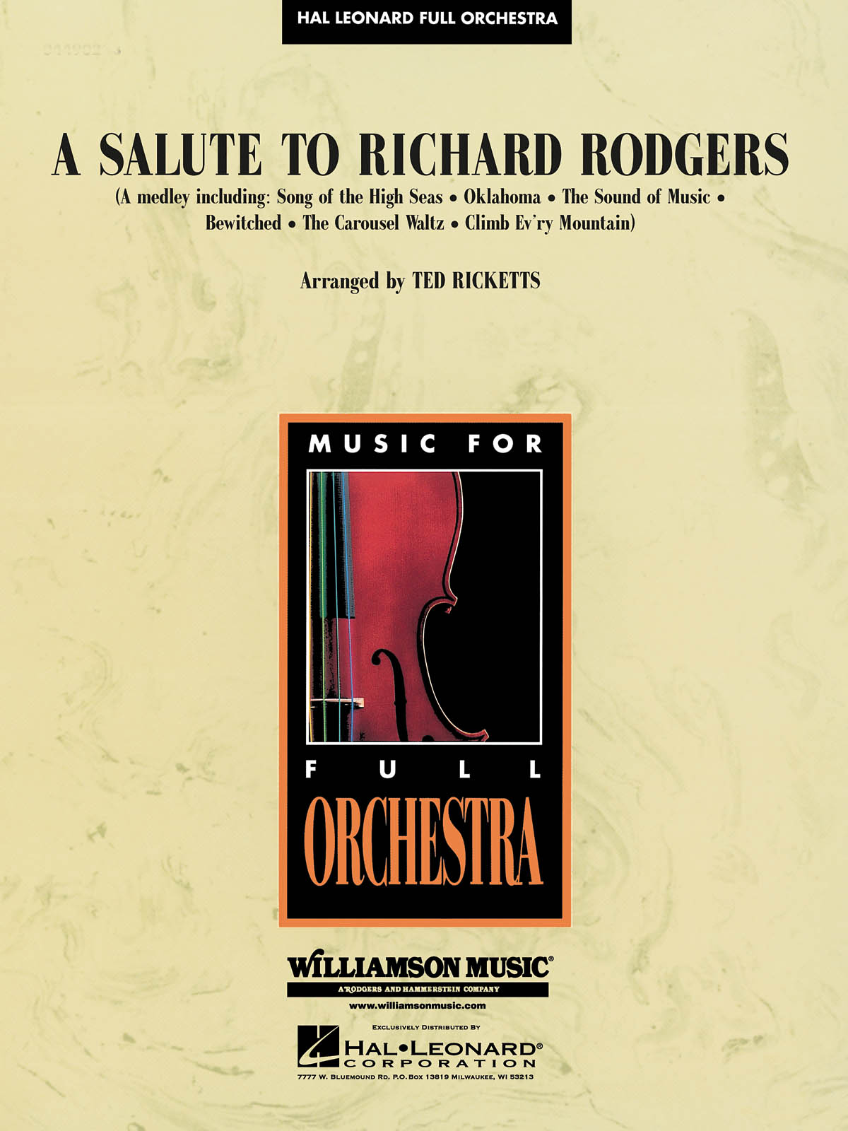 Richard Rodgers: A Salute to Richard Rodgers: Orchestra: Score & Parts
