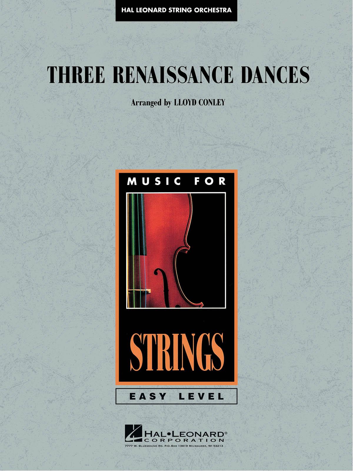 Lloyd Conley: Three Renaissance Dances: String Orchestra: Score