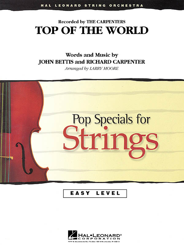 John Bettis Richard Carpenter: Top of the World: String Orchestra: Score & Parts