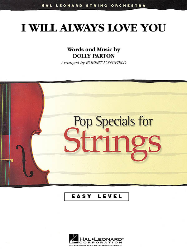 Dolly Parton: I Will Always Love You: String Orchestra: Score & Parts