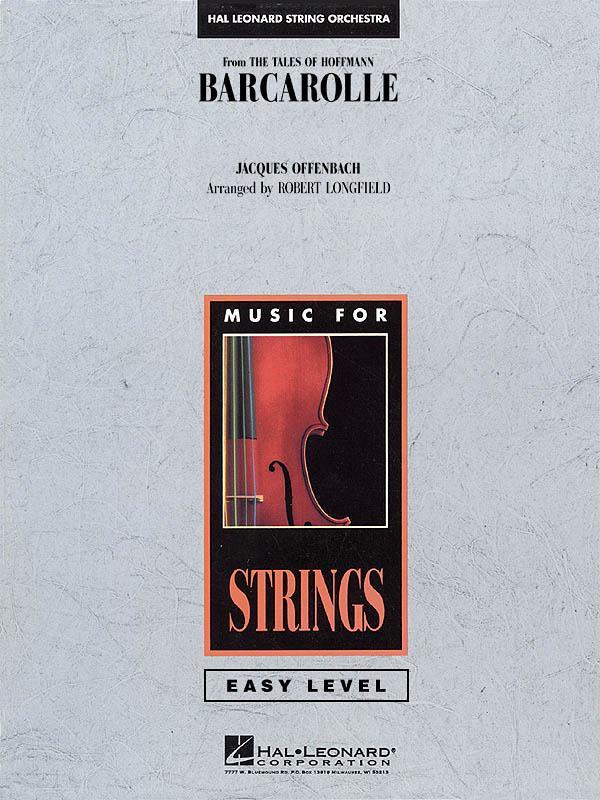 Jacques Offenbach: Barcarolle: String Orchestra: Score & Parts