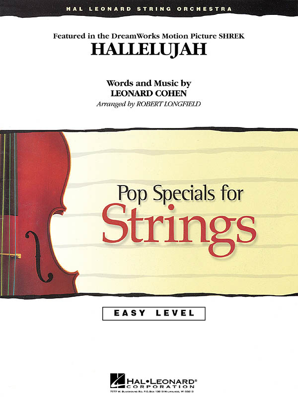 Leonard Cohen: Hallelujah: String Orchestra: Score