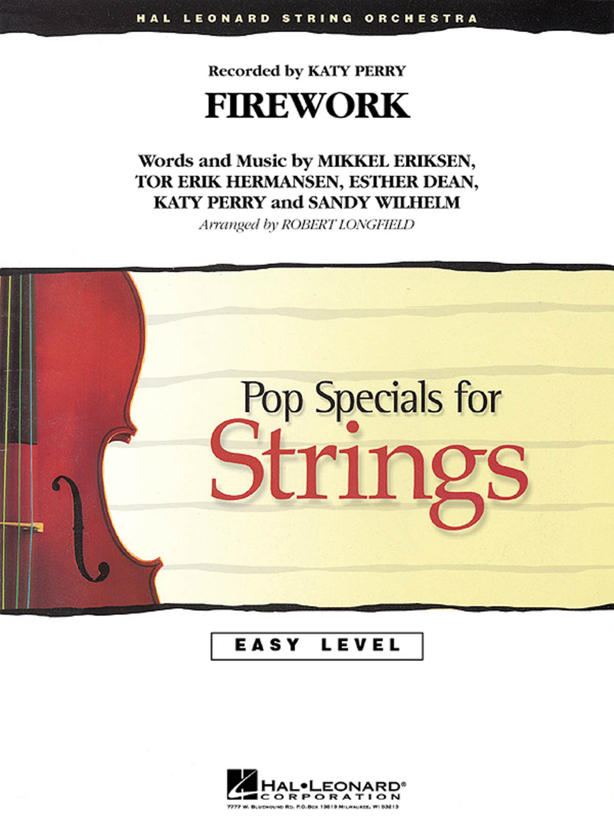 Katy Perry: Firework: String Orchestra: Score & Parts
