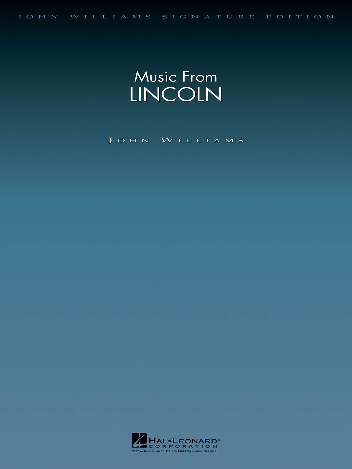 John Williams: Music from Lincoln: Orchestra: Score