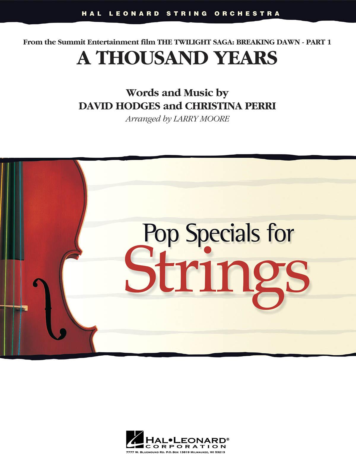 Christina Perri David Hodges: A Thousand Years: String Ensemble: Score & Parts