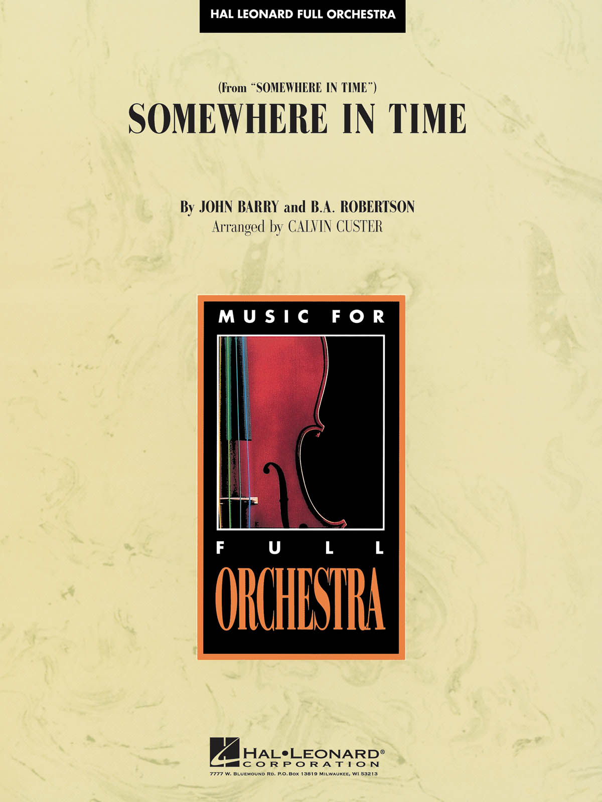 John Barry: Somewhere in Time: Orchestra: Score