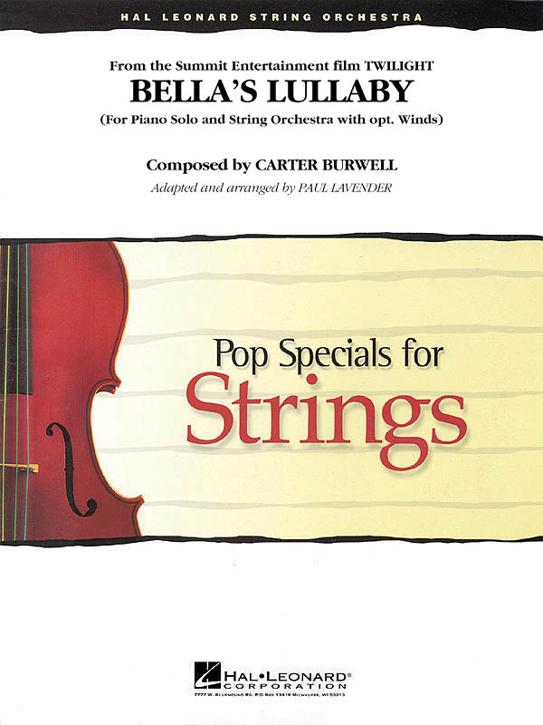 Carter Burwell: Bella's Lullaby (from Twilight): String Ensemble: Score and Parts