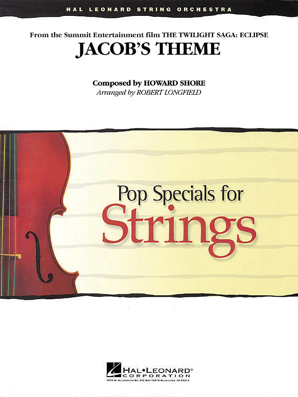 Howard Shore: Jacob's Theme (from The Twilight Saga: Eclipse): String Ensemble:
