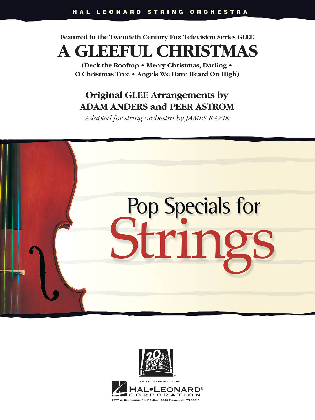 A Gleeful Christmas (Incl.: Deck the Rooftop): String Ensemble: Score & Parts