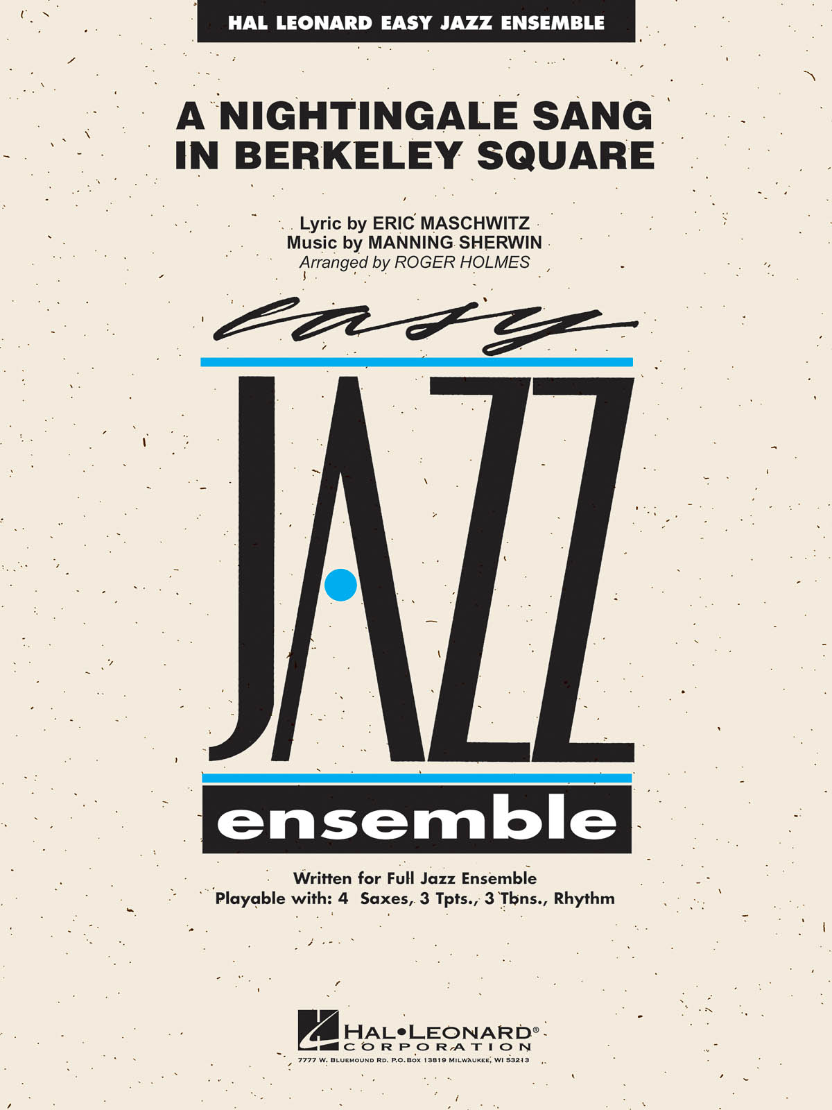 A Nightingale Sang in Berkeley Square: Jazz Ensemble: Score
