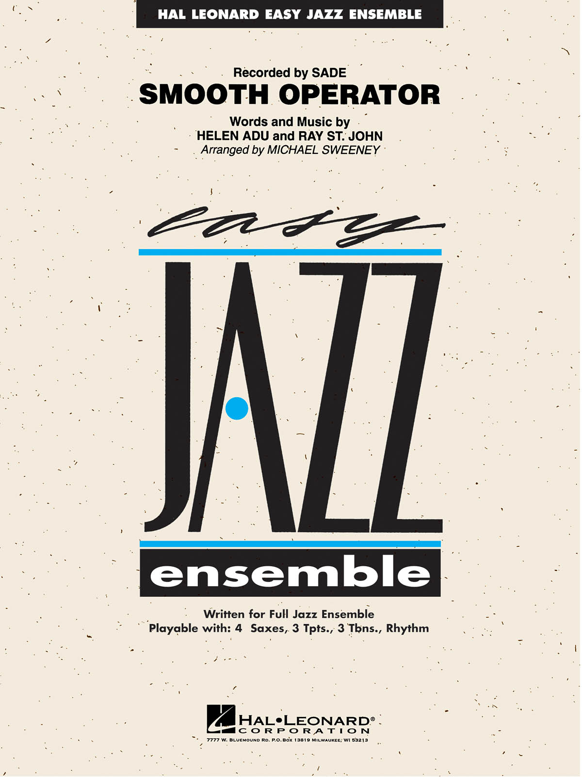Adu St. John: Smooth Operator: Jazz Ensemble: Score