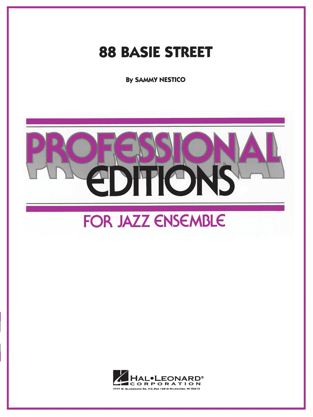 Sammy Nestico: 88 Basie Street: Jazz Ensemble: Score