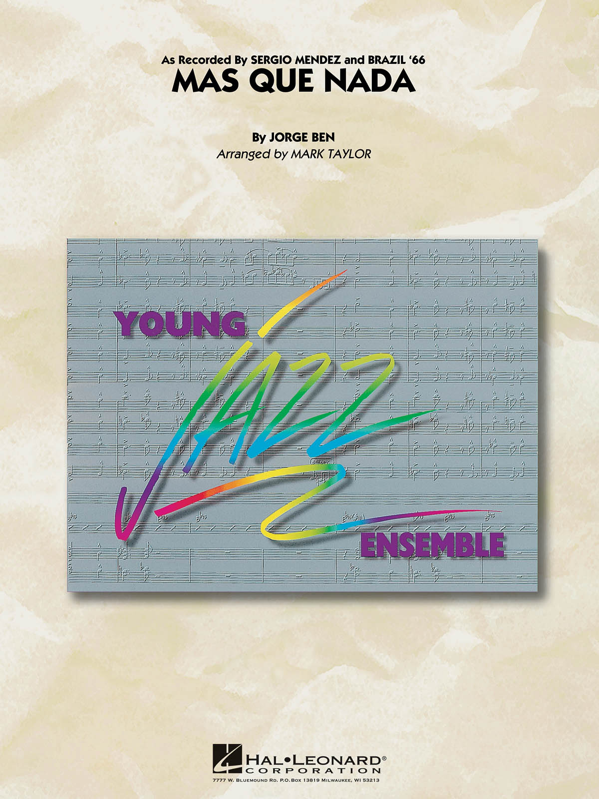 Jorge Ben: Mas Que Nada: Jazz Ensemble: Score and Parts