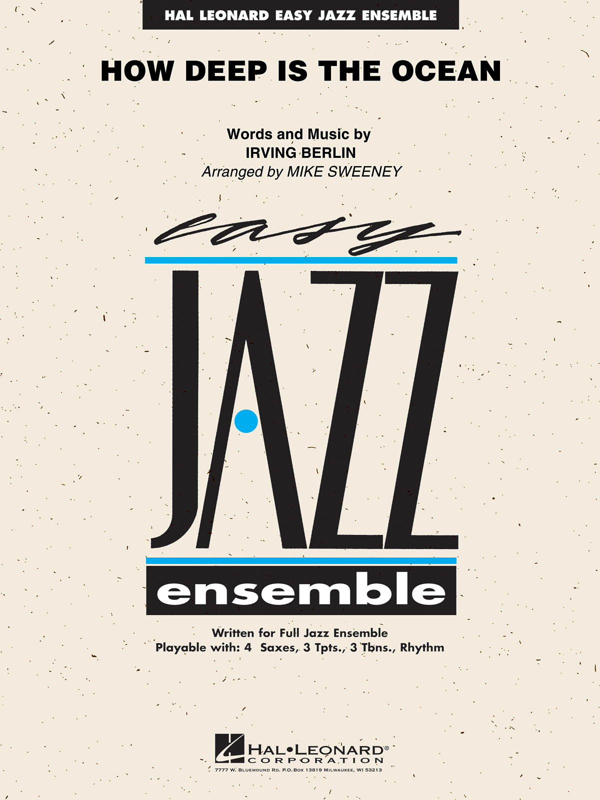 Irving Berlin: How Deep Is The Ocean: Jazz Ensemble and Vocal: Score