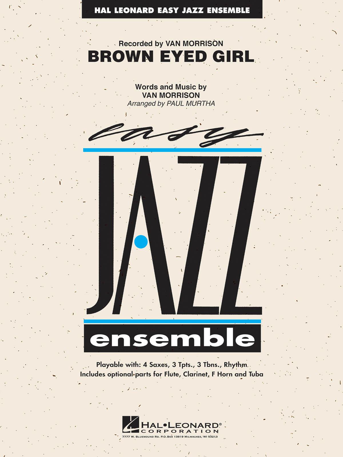 Van Morrison: Brown Eyed Girl: Jazz Ensemble: Score
