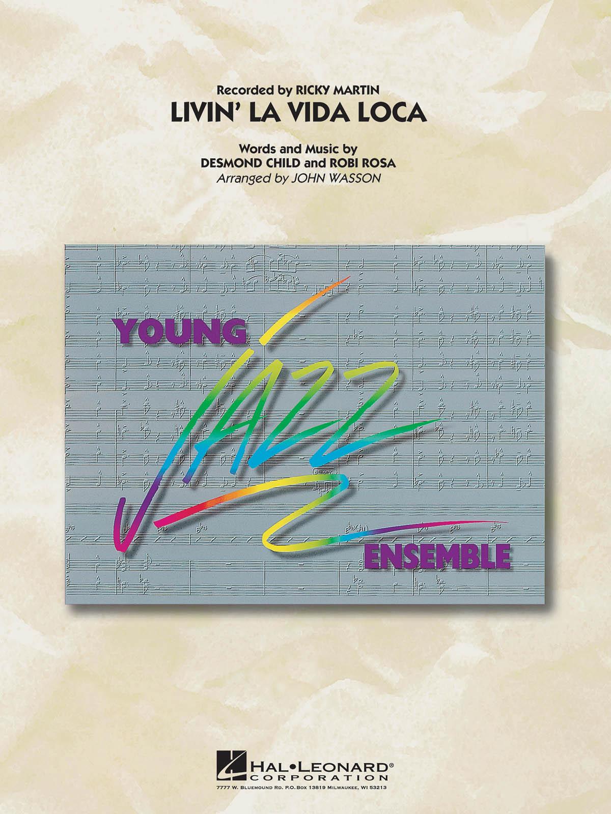 Desmond Child: Livin La Vida Loca: Jazz Ensemble: Score