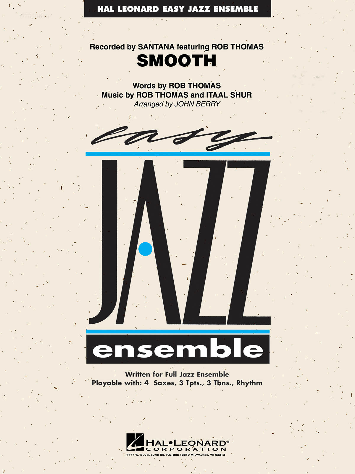 Itaal Shur: Smooth: Jazz Ensemble: Score