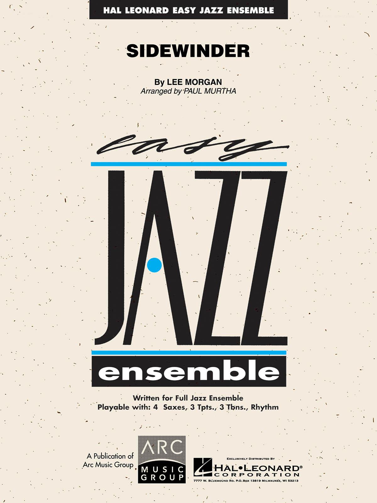 Lee Morgan: Sidewinder: Jazz Ensemble: Score  Parts & Audio